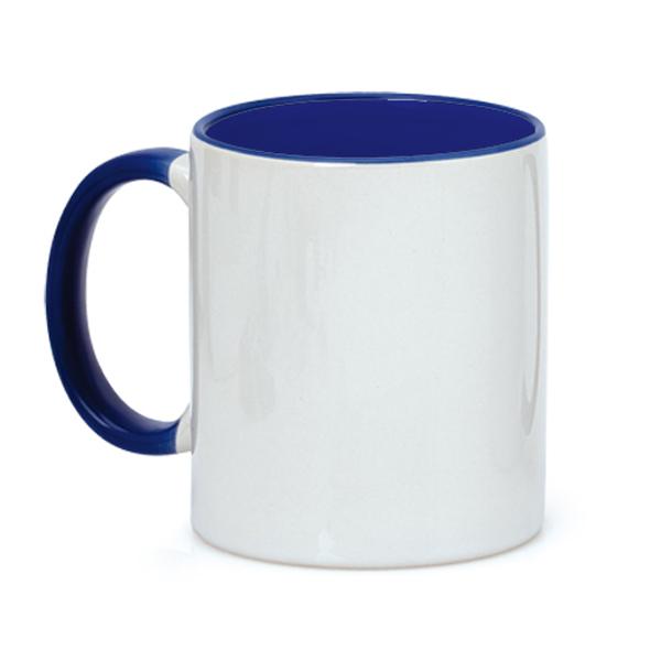 taza fondo azul